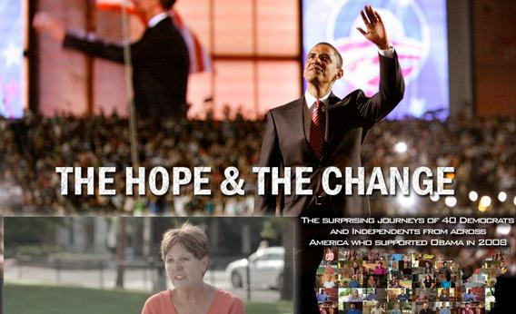 Still from the website of the feature documentary The Hope and the Change about voter disillusionment with President Obama.