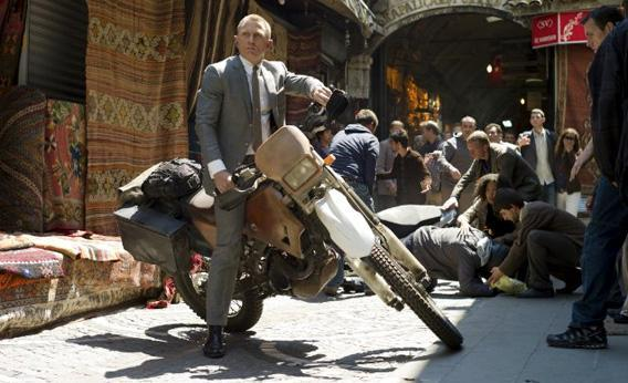 Skyfall, the new James bond movie, starring Daniel Craig