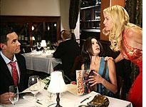 Jay Harrington, Teri Hatcher, and Nicollette Sheridan in Desperate Housewives.           Click image to expand.