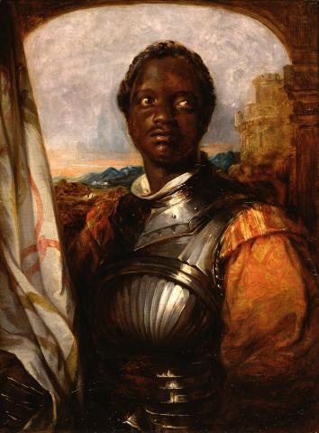 Actor Ira Aldridge as Othello, between 1840 and 1863, Antwerp, B