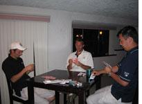 Playing Chinese poker with my friends