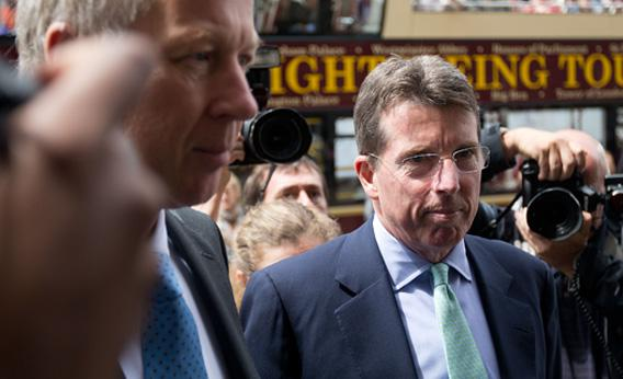 Former Barclays Chief Executive Bob Diamond arrives at Parliament on July 4, 2012 in London, England.