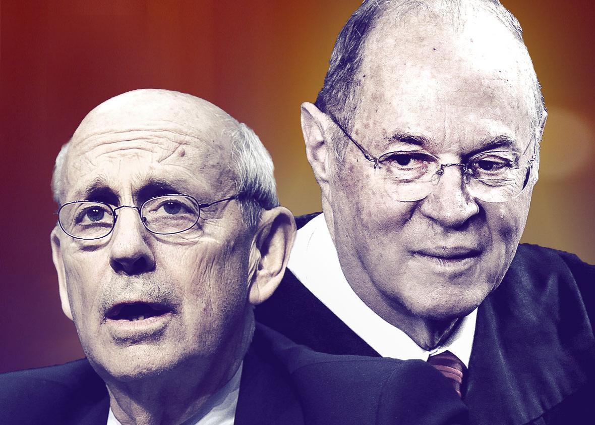 US Supreme Court Justice Stephen Breyer, left, and Supreme Court,US Supreme Court Justice Stephen Breyer, left, and Supreme Court Associate Justice Anthony Kennedy.