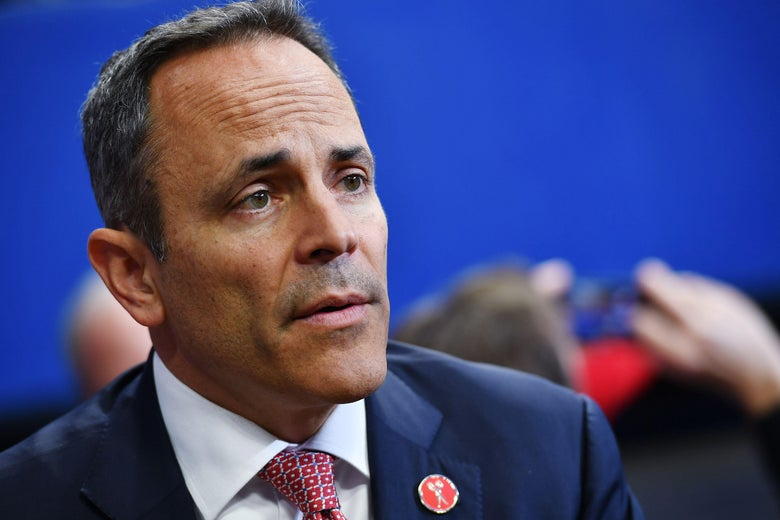A close-up image of Matt Bevin dressed in a suit.