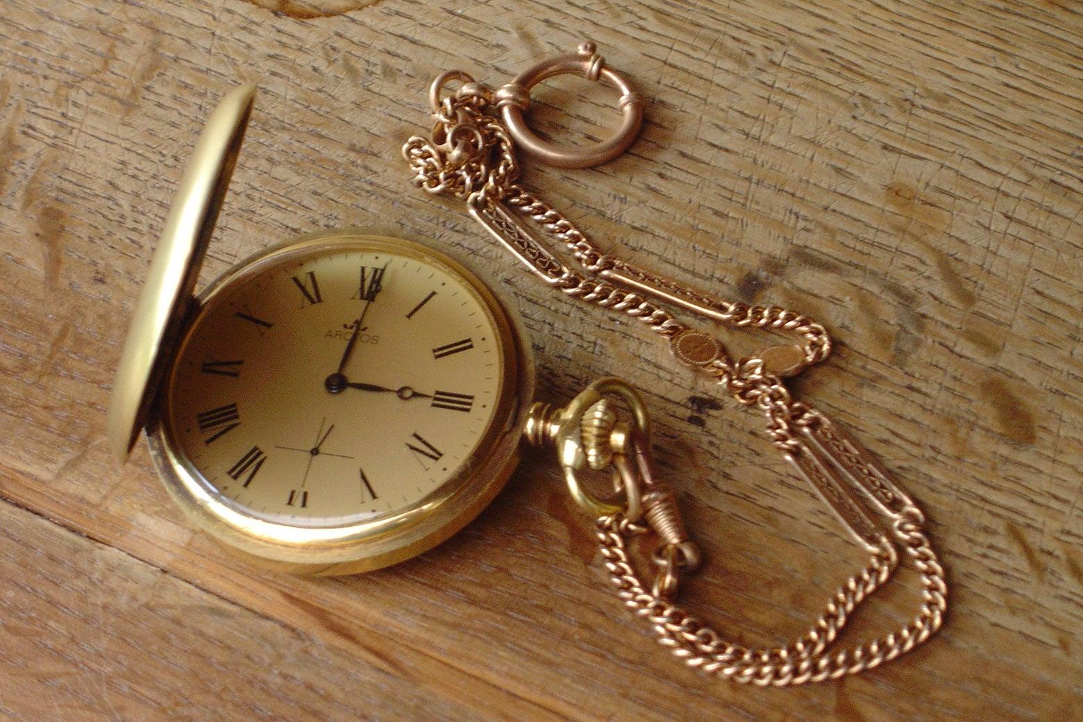 A pocketwatch.