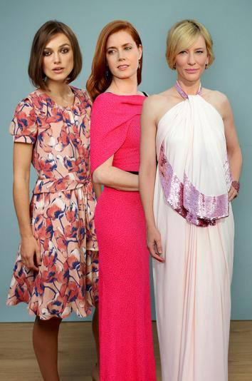 Actresses Keira Knightley, Amy Adams and Cate Blanchett.