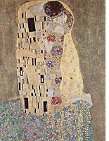 Gustav Klimt, The Kiss, 1907-1908. Click image to expand.