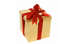 Gift with a ribbon.