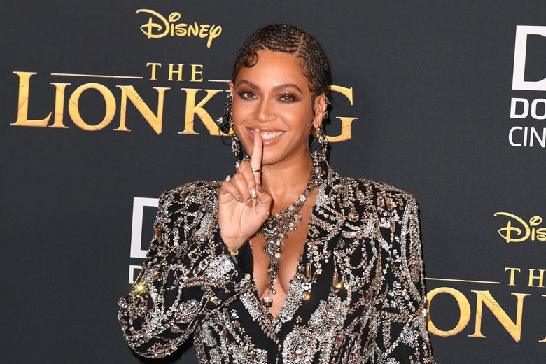 Beyonce at the premiere Disney Lion King remake this week in Hollywood.