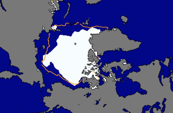 Arctic sea ice extent for Aug 2013