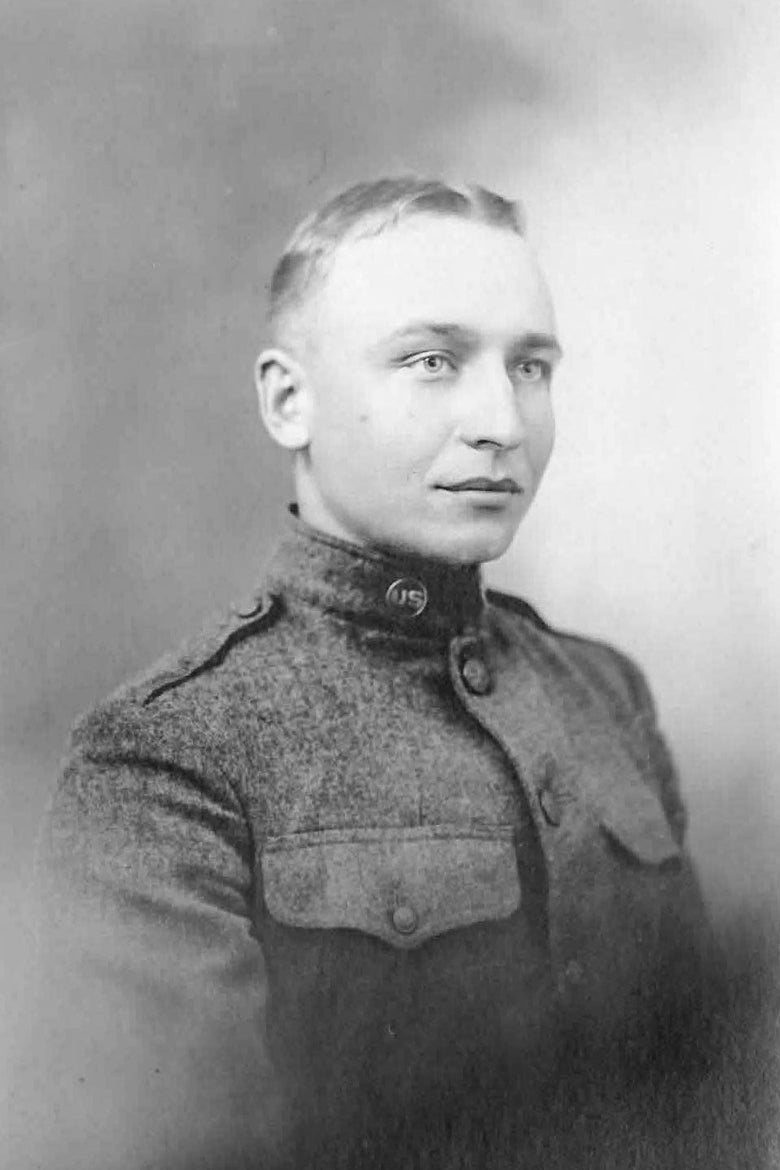 An old photo of a soldier