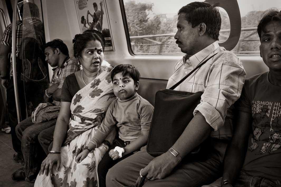 Blue Line near Karol Barg, Delhi2012