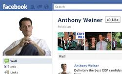 Anthony Weiner's Facebook page. Click image to expand