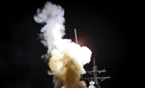 Tomahawk missile launch, Mediterranean Sea, March 2011.