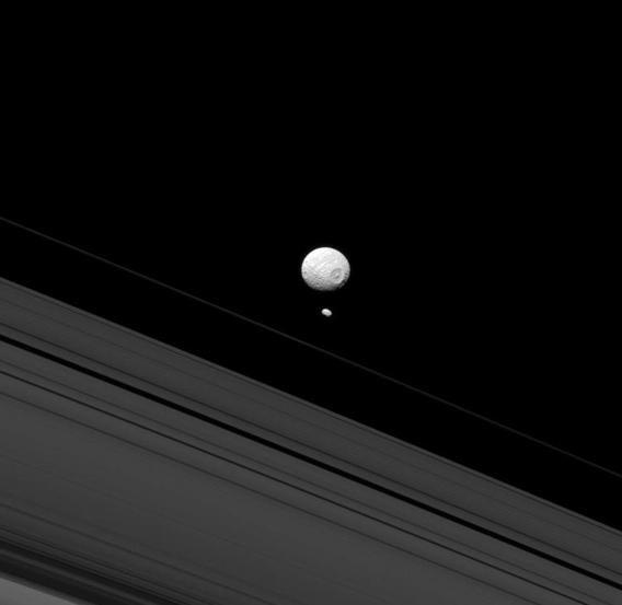 Saturn, Mimas, Pandora