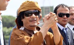 Who helped Qaddafi?