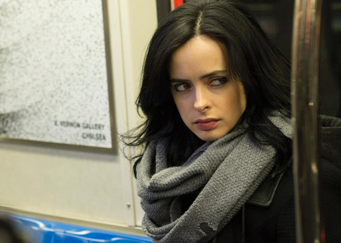Krysten Ritter in Jessica Jones.