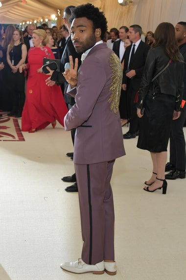 NEW YORK, NY - MAY 07: Donald Glover attends the Heavenly Bodies: Fashion & The Catholic Imagination Costume Institute Gala at The Metropolitan Museum of Art on May 7, 2018 in New York City.  (Photo by Neilson Barnard/Getty Images)