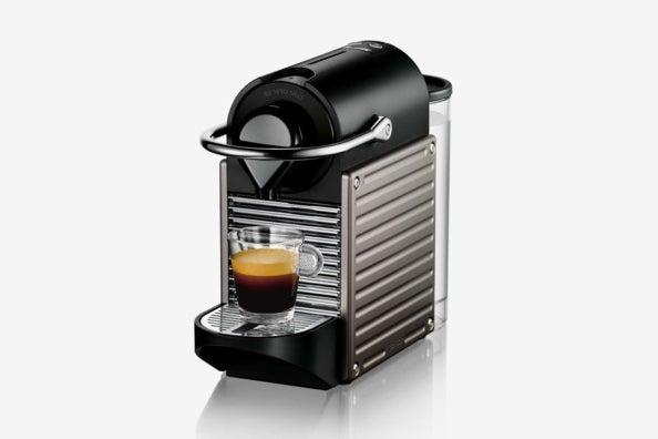 Nespresso by Breville Pixie Espresso Maker in Titanium.