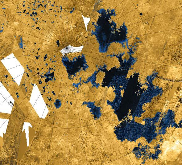 lakes on Titan
