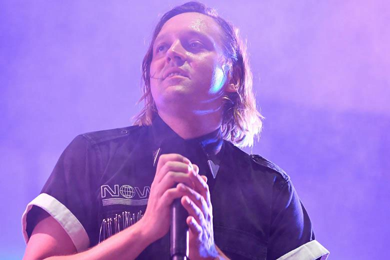 Arcade Fire's Win Butler performs at the Vieilles Charrues music festival in Carhaix-Plouguer, France, on July 15.