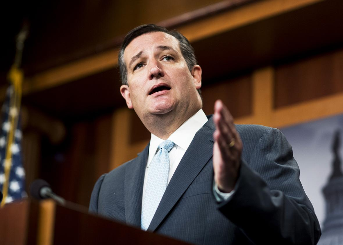 Sen. Ted Cruz, speaks during the press conference on military aid to Israel with on Tuesday, Sept. 20, 2016.