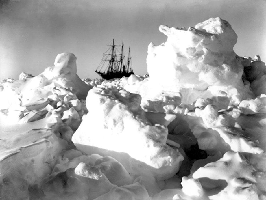 Shackleton's Antarctic Expedition, Ernest Shackleton, Frank Hurley, Antarctica, The Ralls Collection, Ice Frame, frozen ship, ice floe, explorers