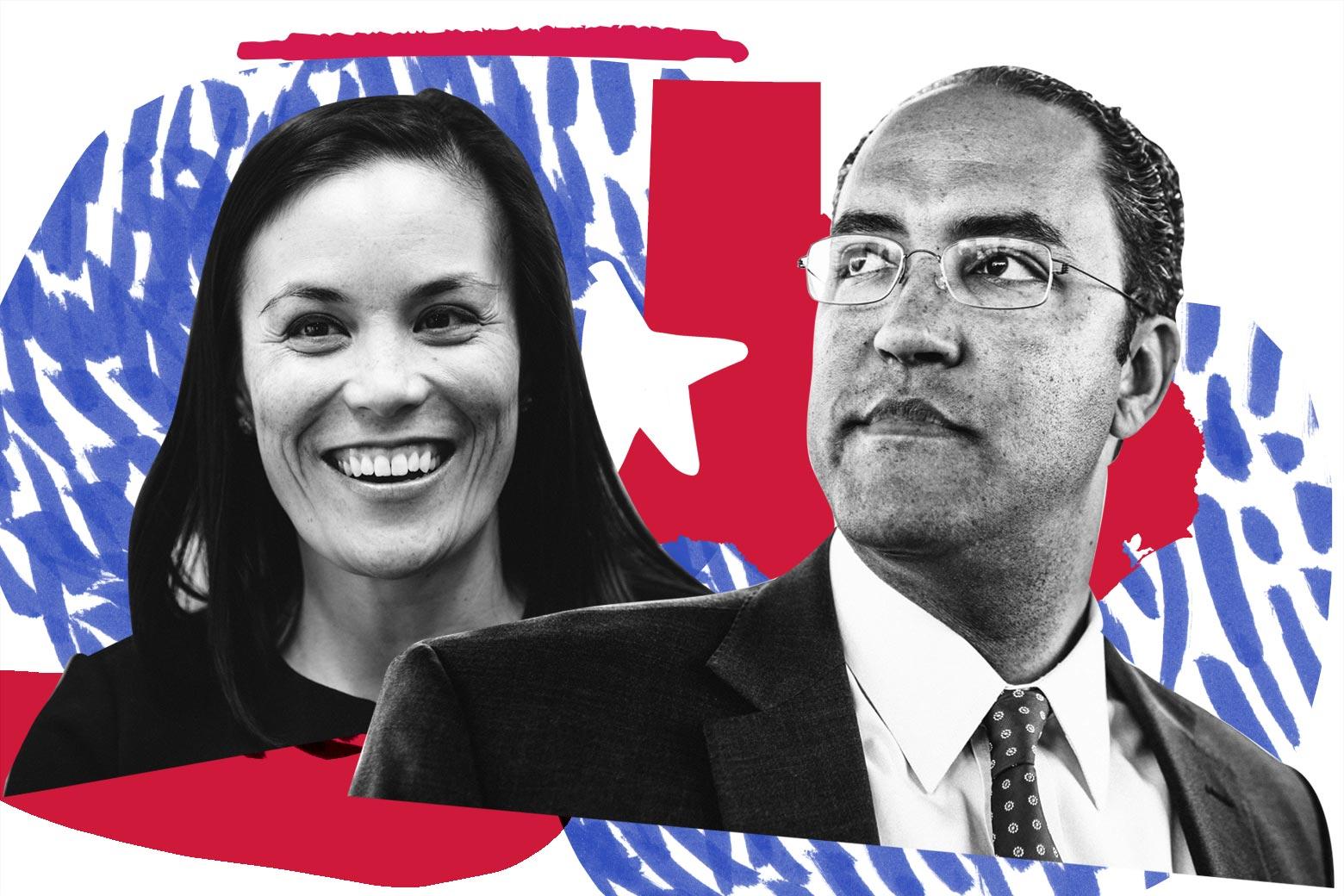 Gina Ortiz Jones and Rep. Will Hurd