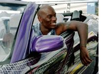 Tyrese in 2 Fast 2 Furious: Velocity should be visceral, but here it's superficial