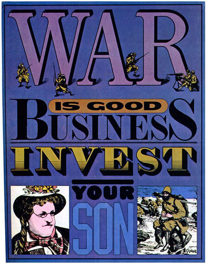 14. Chwast_KickReward_WarBusiness-poster
