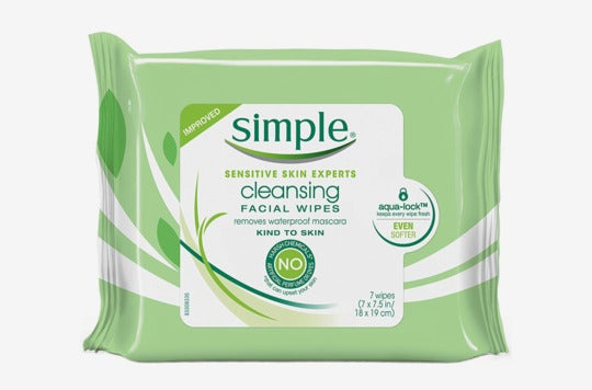Simple cleansing facial wipes.