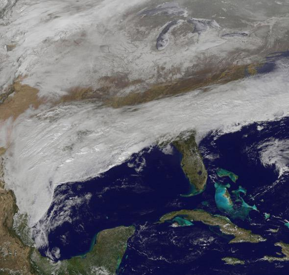 snowstorm hits the southeast