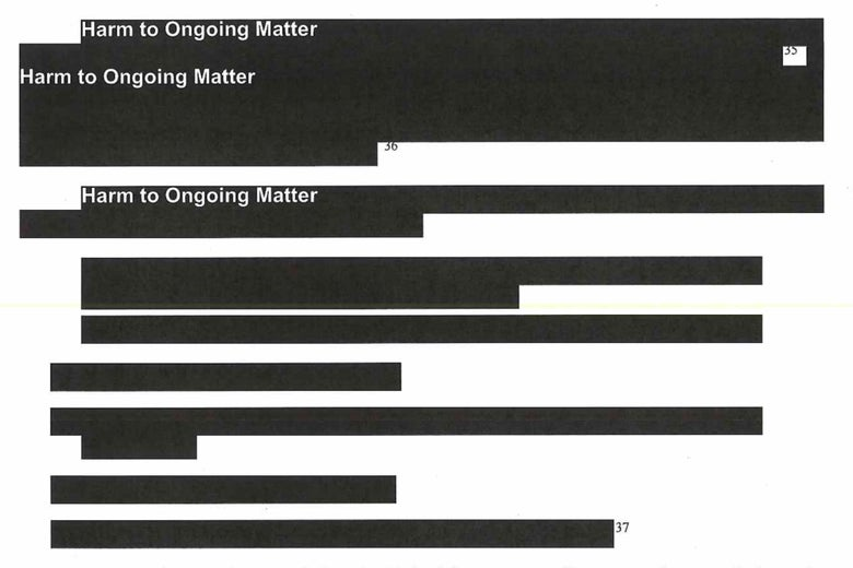 Page 29 of the Mueller report. Lots of black lines.