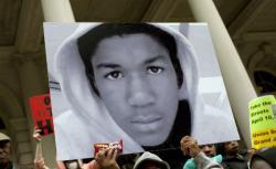 A Trayvon Martin poster.