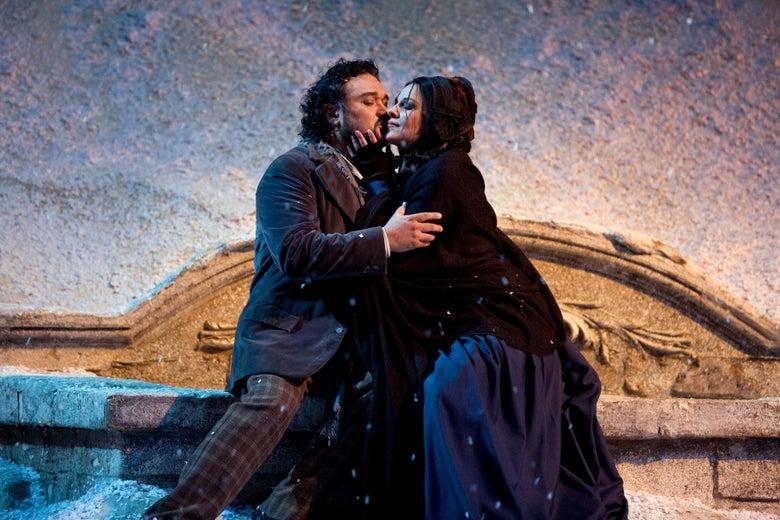 Ramón Vargas and Angela Gheorghiu in Puccini's La Bohème.