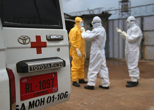 Ebola victim from the Island Clinic Ebola treatment center.