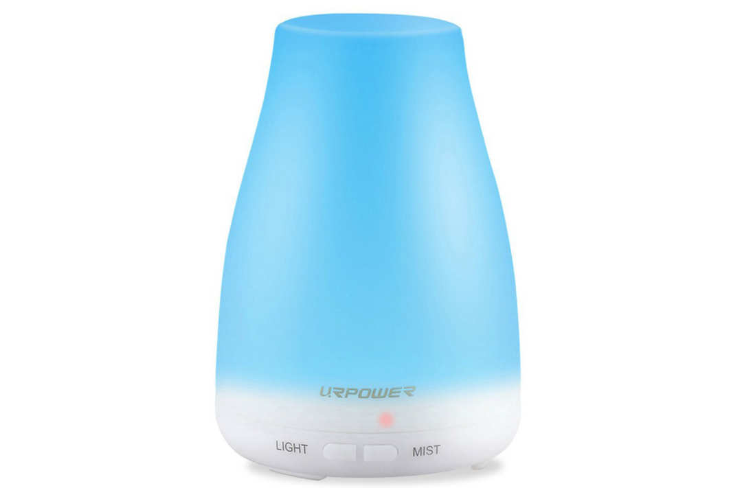 Blue Urpower essential oil diffuser.