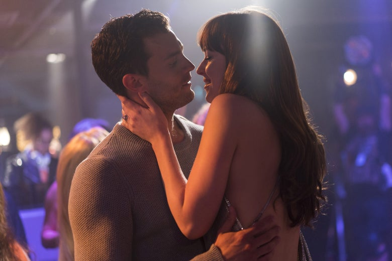 Jamie Dornan and Dakota Johnson in Fifty Shades Freed.
