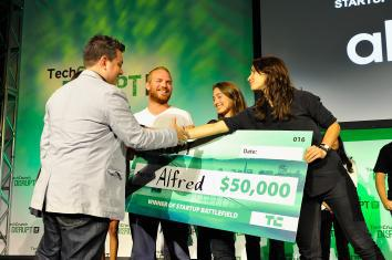 Alfred Club accepts TechCrunch award