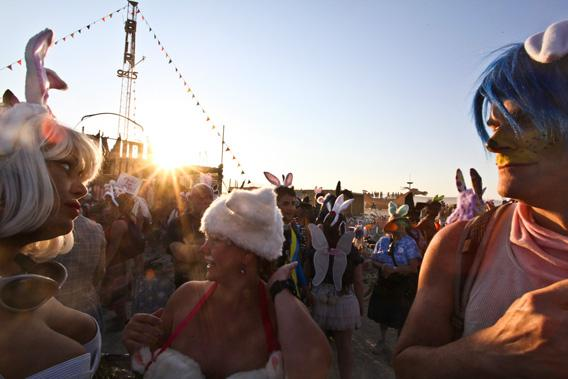 Nothing is too weird to wear at Burning Man.