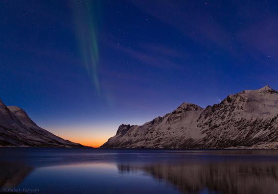 Comet and Aurora over Northern Norway