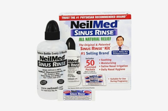 NeilMed sinus rinse kit.