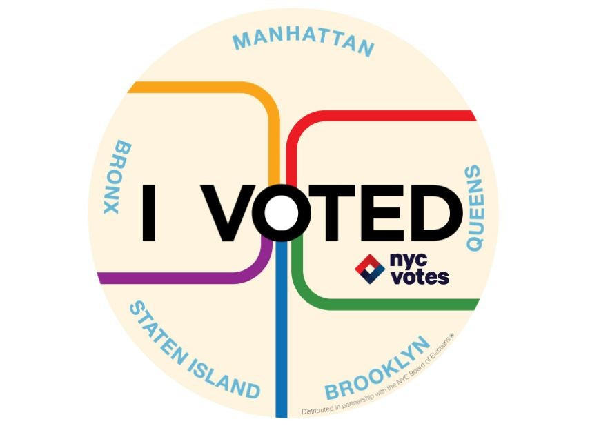 "NYC's ""I Voted"" sticker."