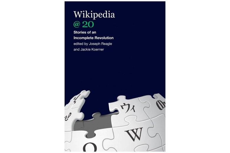 Wikipedia @ 20 book jacket.