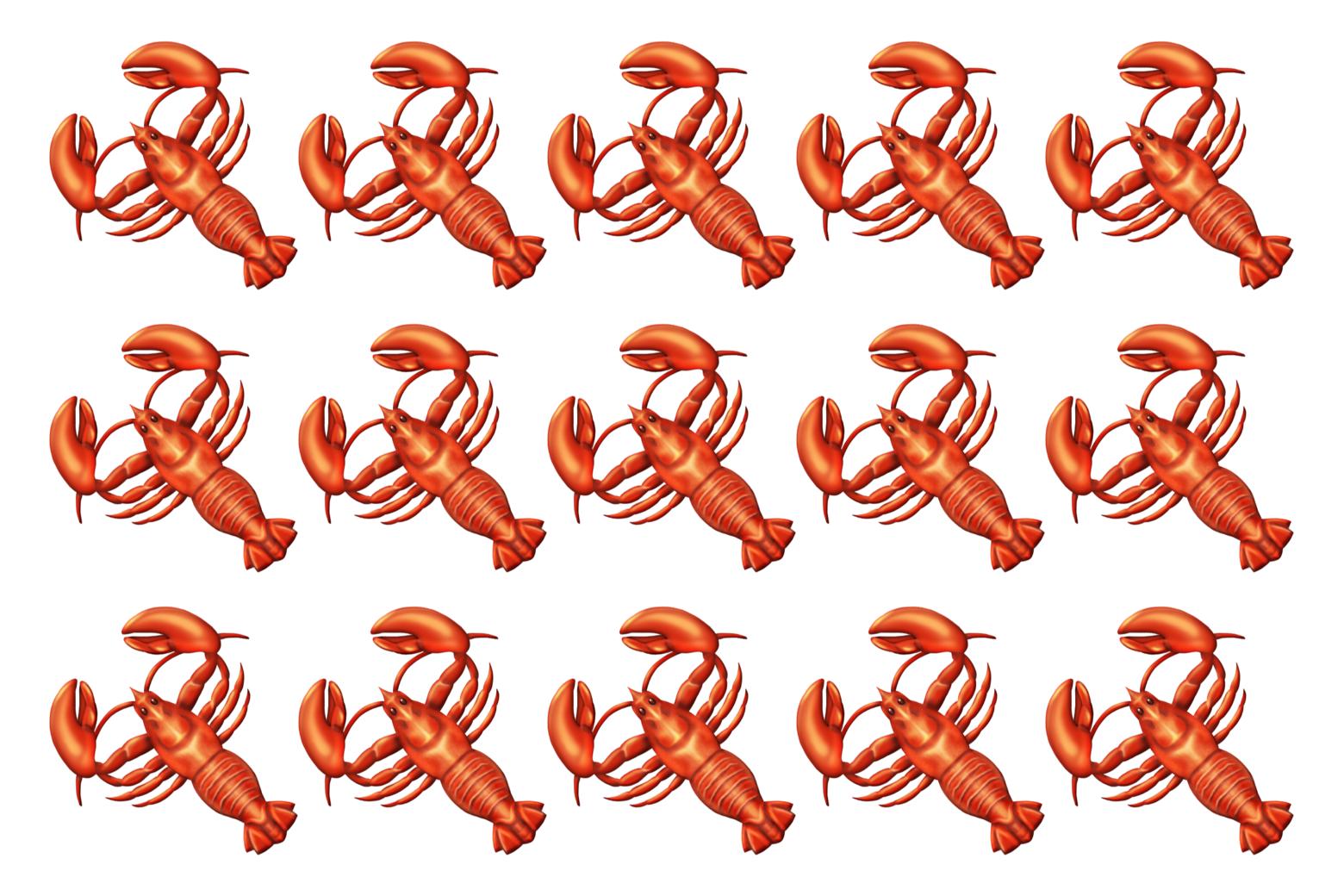 Lobster emojis.