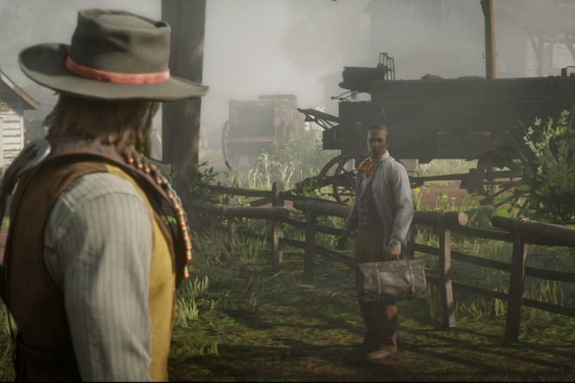 Red Dead Redemption 2 protagonist Arthur Morgan encounters Alphonse Renaud, a black doctor who is nearly lynched.