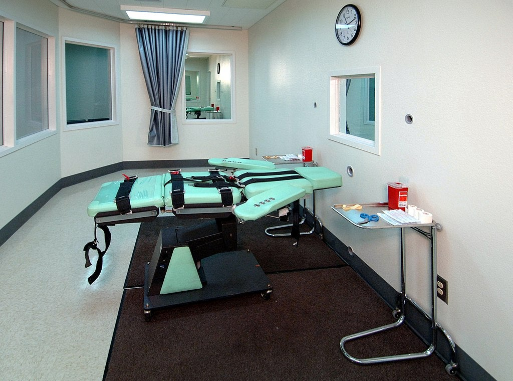 A lethal injection chamber.