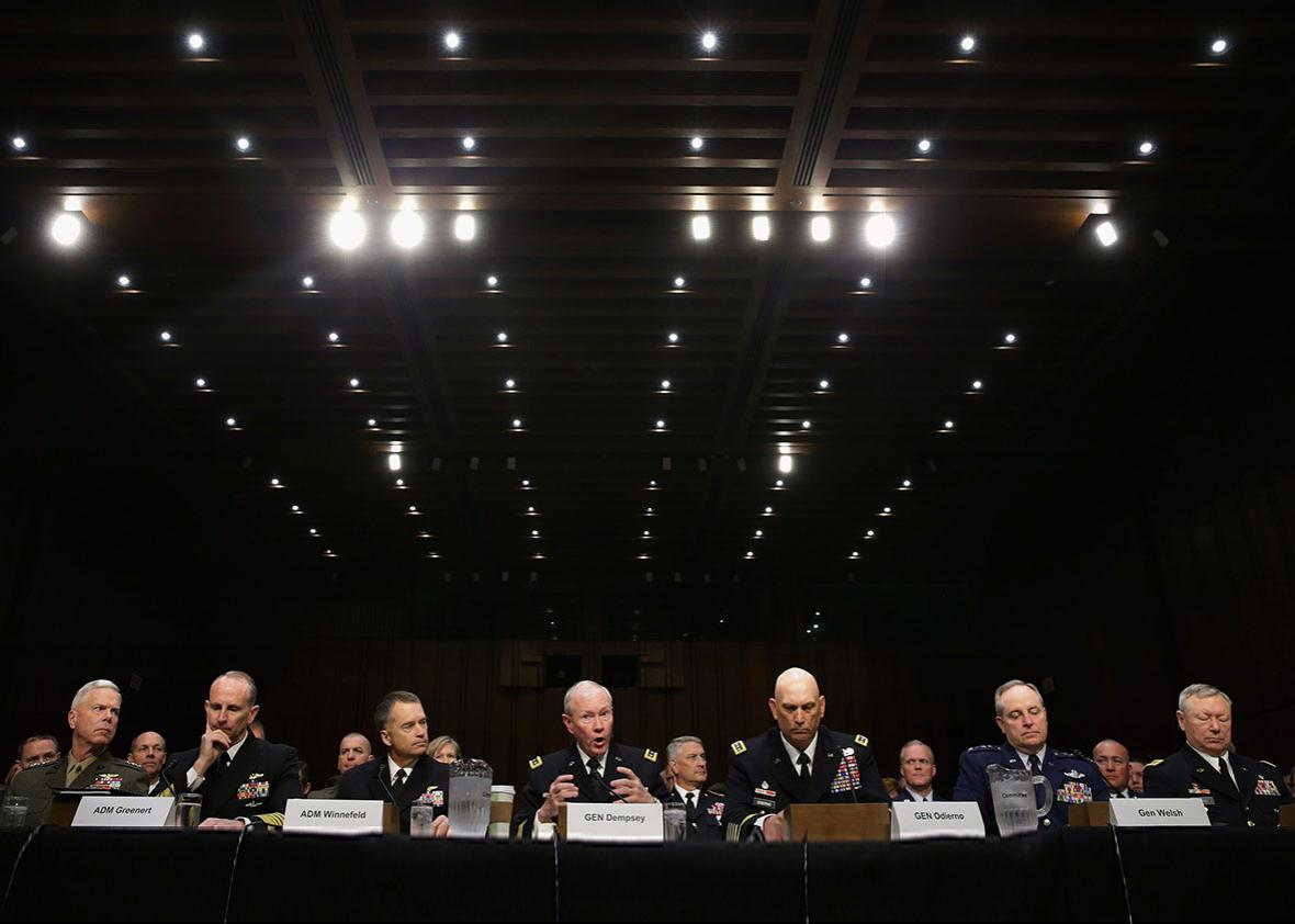 The U.S. military Joint Chiefs of Staff.