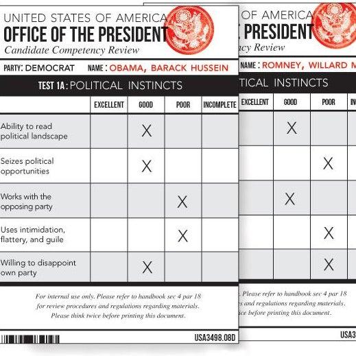 Presidential report card