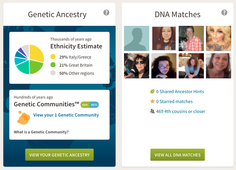 AncestryDNA website